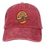 RFTGB Gorras Unisex Accesorios Sombreros Gorras de béisbol Sombreros de Vaquero The Boar's Nest Denim Baseball Cap, Unisex Vintage Dad Hat, Golf Hats, Adjustable Plain Cap