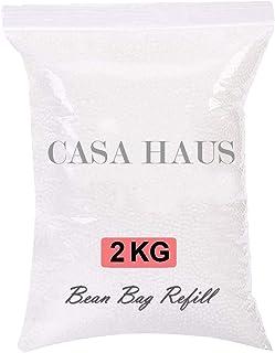 Casa Haus Premium 2 Kg Bean Bag Refill/Filler - White Moon (2 kg Beans - 1400 Grams net Weight as per Indian Standards)