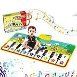 Alfombra de Piano Alfombra Musical Estera de Piano Musical Baile Tapete Piano Teclado Alfombra Toque Juego Musical Alfombra de Suelo Educativo Juguete Regalo para Bebé Niños Niño Niña