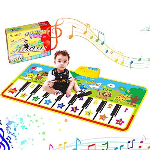 RenFox Estera de Piano Musical, Piano Keyboard Playmat Manta Musical Electrónica Educativa Portátil Altavoz Incorporado y Función de Grabación para Niñas y Niños
