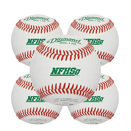 Diamond Sports Rods Baseballs Leather DOL-1 HS 5 Dozen Case (Five Dozen) High School NFHS