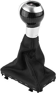 Gear Shift Knob Cover, Carbon Fiber Automatic Gear Stick Shift Knob for Audi Q3 A3 S3 RS3 (1pc)