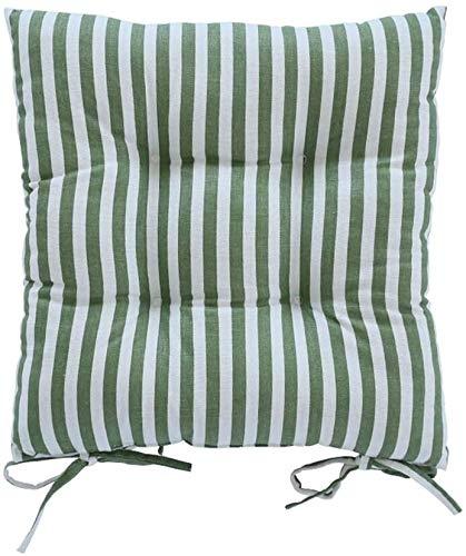 Seat Cushion For Chair De Espesor cojín de la Silla de Comedor, Estudiante Transpirable Alfombrilla Antideslizante con Correa, 40x40cm, Muchos Colores a Elegir, 2 Piezas Cushion (Color : D)