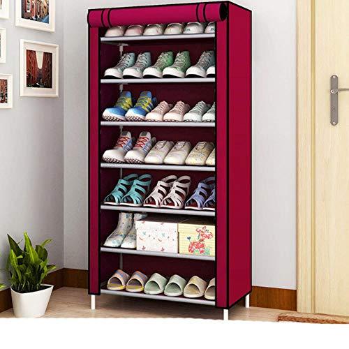 Estante de almacenamiento de zapatos de tela no tejida a prueba de polvo pasillo organizador de zapatos de ahorro de espacio Soporte para el hogar 11