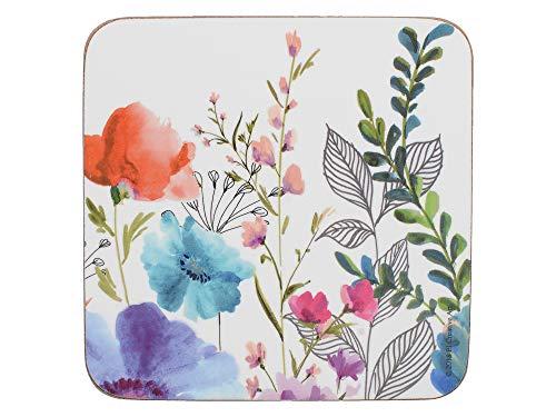 Creative Tops C000338 Premium Untersetzer mit Unterseite aus Kork, bedruckt, Motiv: Wiesenblume