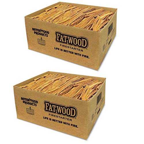 Fantastic Prices! BetterWood Products 9951 Natural Pine Fatwood 50 Pound Firestarter (2 Pack)