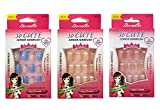 Beautia 3pack 72Tips So Cute Artificial False Fake Junior Nail With Glue For Kids (22113/22013/22111)