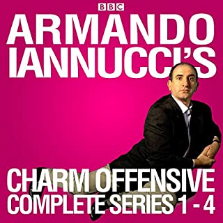 Armando Iannucci's Charm Offensive: Series 1-4     The Complete BBC Radio 4 Collection              By:                                                                                                                                 Armando Iannucci                               Narrated by:                                                                                                                                 Armando Iannucci,                                                                                        Clive Anderson,                                                                                        Jo Brand,                   and others                 Length: 11 hrs and 11 mins     31 ratings     Overall 4.6