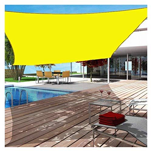 WULIL Toldo Vela De Sombra Impermeable, Cuadrado/Rectángulo Toldo con Protección Solar para Exterior, Patio, Jardín, Césped, Pérgola, Cubierta Fácil De Colgar (Color : Yellow, Size : 3x5m)