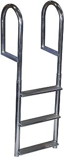 Dock Edge Welded Fixed Wide Step Dock Ladder, Steps, Aluminum