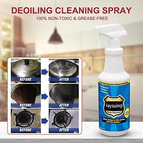 WXGY Detergente de limpieza de cocina, desengrasante profesional para eliminar manchas y grasas, limpiador multiusos de espuma, limpiador de burbujas, en spray para exhibición de cocina