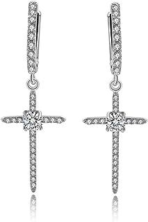 Fashion cross Drop Earrings for Women plating Hypoallergenic mosaic cubic zirconia Jewelry for women Earrings Gift Dangle ...