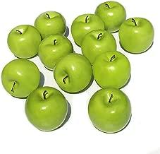 green plastic apples