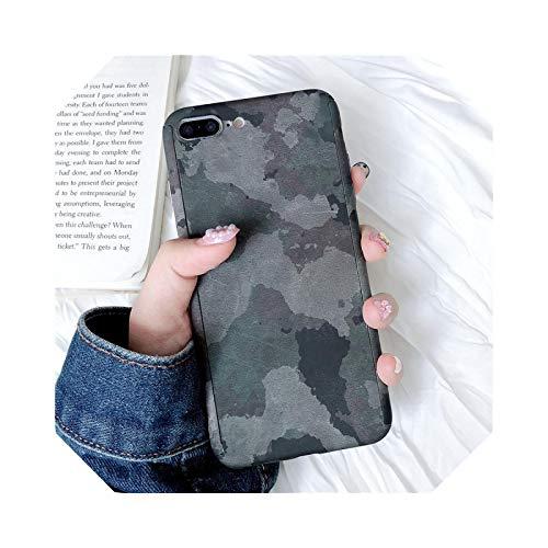 Funda de teléfono para iPhone 11 Pro Max 7 8 Plus X XR XS Max 5 5S SE 6 6S Plus Carcasa rígida de policarbonato Funda-40 camuflaje para iPhone 6S Plus