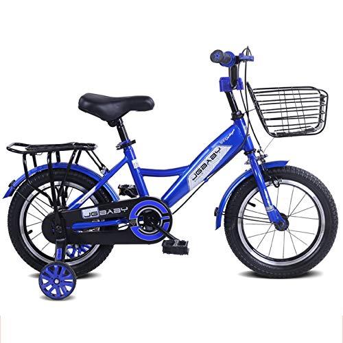 MXSXN Bicicleta para Niños Niñas Estilo Libre BMX 12 14 16 18 Pulgadas con Ruedas De Entrenamiento De 3 A 8 Años con Soporte Bicicletas De Equilibrio para Niños,12'