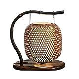 Hochwertige Tischlampe Chinesische Gartenlampen Bambus Tischlampe Studie Tischlampe Wohnzimmer Lampe warme dekorative Tischlampe moderne Lampe Energie sparen