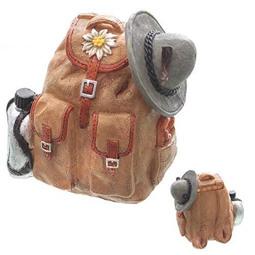 Topshop24you wunderschöne Spardose Rucksack, Wanderkasse mit Gummipfopfen