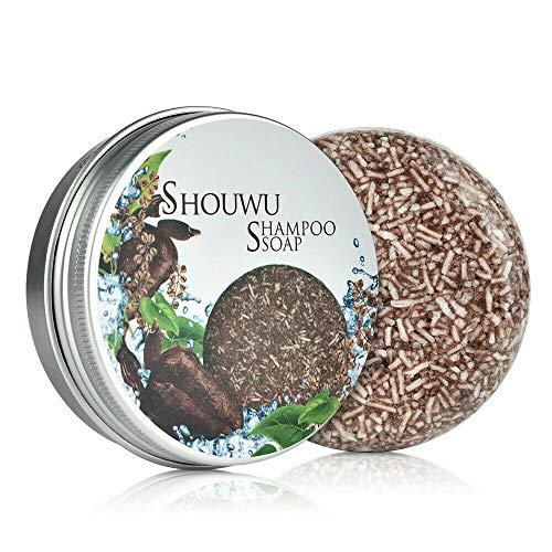 Hair Darkening Shampoo Bar, Hair Shampoo Soap Solid Shampoo Bar, Natural Organic Polygonum Multiflorum Hair Care Shampoo Repair Conditioner for All Hair Types