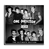 Four One Direction Album Cover Canvas Art Poster and Wall Art Picture Print Modern Family Bedroom Decor Posters