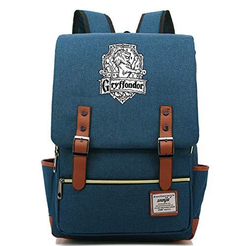 MMZ Bolsa de lona para escolares, mochilas con letrero de Gryffindor, regalos de Harry Potter para niños y niñas adolescentes 38x27x12.5cm (#6)