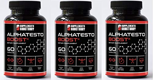 Alpha TESTO Boost X Male Fuel Formula 60 Capsules New Sealed x 3 Bottles