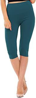 NANAVA Women's High-Rise Regular Plus Premium Cotton Capri Leggings