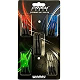 Winmau Prism Force Dart Shafts, Force Grip Zone Stems, Medium 48mm, Mixed Colors (5 Sets)