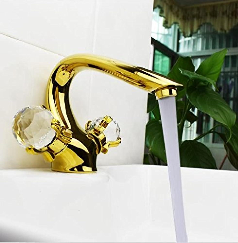 AQMMi Wasserhahn Armatur Mischbatterie Waschtischarmatur Messing Warmes Und Kaltes Wasser Antiken Ventil Badarmatur Waschbeckenarmatur Badezimmer Waschbecken