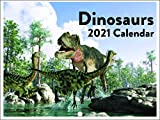 Dinosaurs T Rex Cool Kids 2021 Wall Calendar 12 Month Monthly Full Color Thick Paper Pages Folded Ready to Hang 18x12 inch
