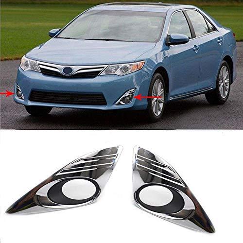 BAAQII Paire Cache antibrouillard Lunette Garniture chromée pour Toyota Camry 2012-2014
