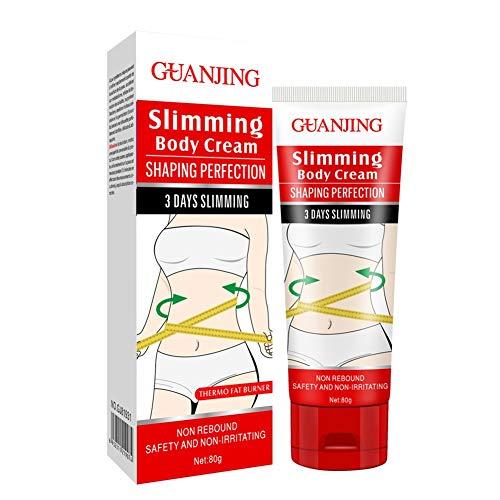 URMAGIC Crema corporal adelgazante, Crema caliente Crema delgada Crema anticelulítica reafirmante para la piel del vientre, Quemador de grasa - Pérdida de peso hermógena para piernas