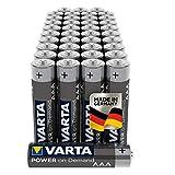 Varta Power on Demand Pilas AAA Micro (aptas para accesorios de ordenador, aparatos domésticos inteligentes o linternas), paquete de 40 unidades