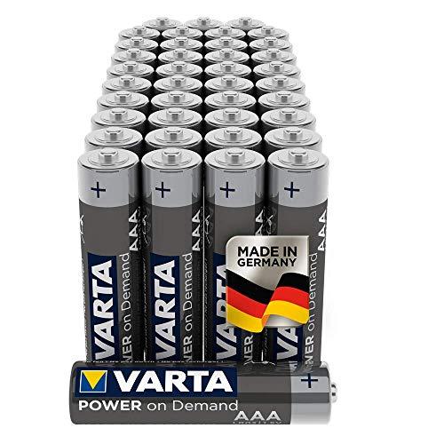 VARTA Power on Demand AAA Micro Batterien (geeignet für Computerzubehör, Smart Home Geräten oder Taschenlampen) 40er Pack