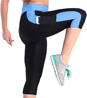 Women Textured Capri Leggings Yoga Pants Running Gym Trousers