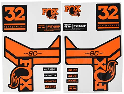 Ecoshirt 7C-Peel-TLC8 Pegatinas Stickers Fork Fox 32 SC Performance 2017 Am84 Aufkleber Decals Autocollants Adesivi Forcela Gabel Fourche, Naranja