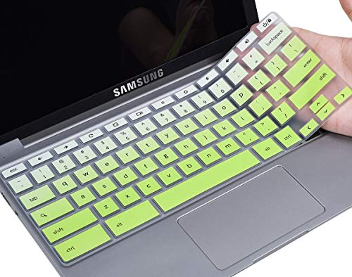 CaseBuy Samsung Chromebook Keyboard Cover for Samsung Chromebook 4 3 XE310XBA XE500C13 XE501C13 11.6/Chromebook 2 XE500C12/15.6 Chromebook 4 XE350XBA/Chromebook Plus XE520QAB XE521QAB 12.2,Ombre Green