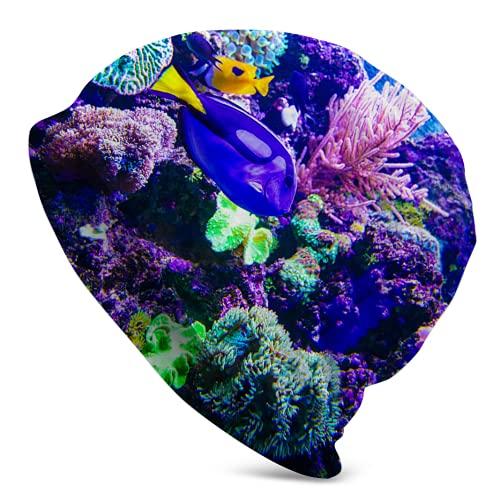 landianguangga Gorra de reloj de arrecifes de coral y peces gorro de invierno para hombres y deportes