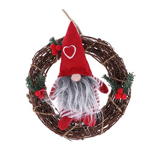 LIOOBO Guirnalda de Navidad Colgando Guirnalda de Navidad para Fiesta de Navidad Puerta de Entrada del árbol de Navidad al Aire Libre ⭐