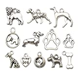 Youdiyla 70 PCS Dog Charms Collection, Mix...