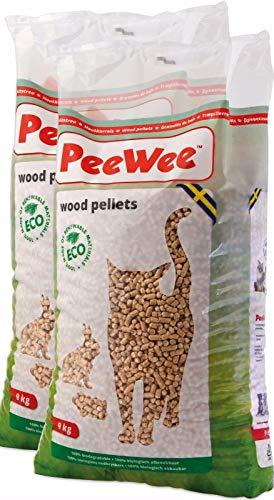 PeeWee 28 L / 18 KG Holzstreu Katzenstreu Einstreu Bio Öko Streu Pellets (2x9kg)