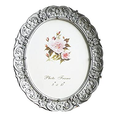 8x10 Inch Oval Picture Frame Photo Frame Gray Vintage Home Decorative Tabletop Wall Mounting Resin Large Frame