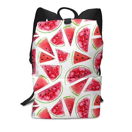 aiyouwuqu-Watercolor Watermelon Slices Lightweight Backpacks Casual School Bags Daypacks Laptop Backpack Adult Backpack Men and Women