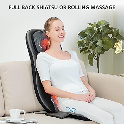 Snailax Shiatsu Neck & Back Massager Pad