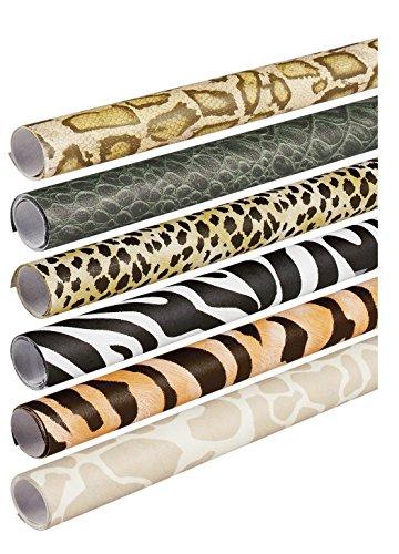 Pacon Fadeless Safari Prints Art Paper, 2-Feet by 8-Feet rolls, 6 Assorted Designs (56920)