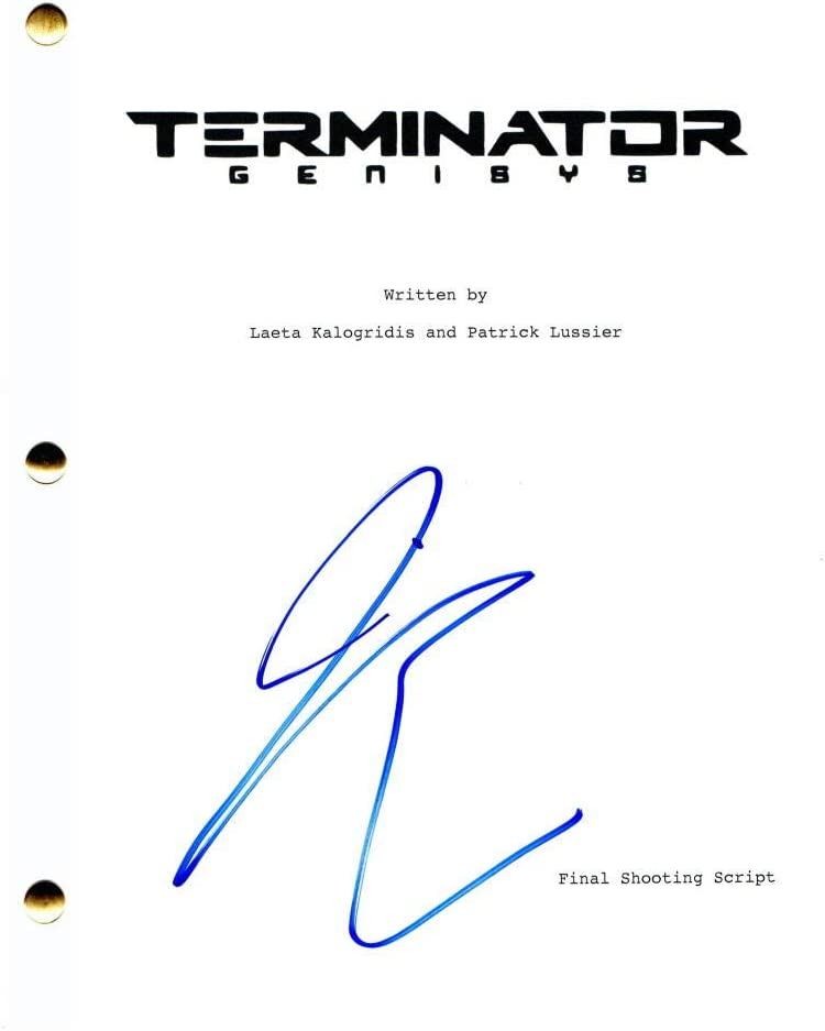 JAI COURTNEY Excellent SIGNED New product! New type AUTOGRAPH TERMINATOR FULL MOVIE SCRI GENISYS