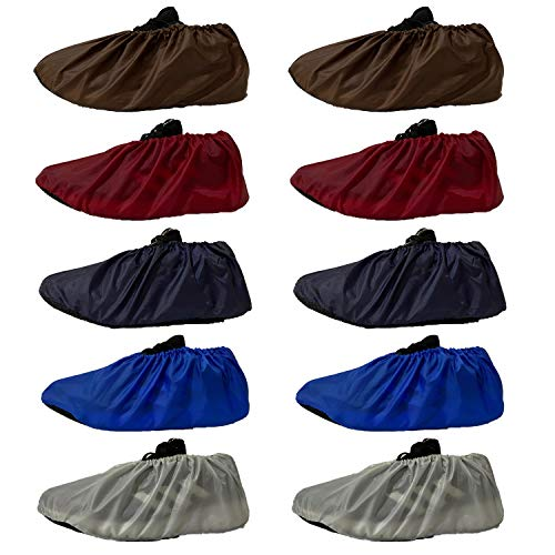 GiantGo 5 Paires de Couvre-Chaussures antidérapantes réutilisables, imperméables, de qualité supérieure pour Chaussures, Protection de Sol pour Tapis de ménage, Lavable en Machine, 5 Couleurs