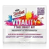 SlimFast 7 Boost Kit I Enthält Vitality Mahlzeitenersatz Pulver, Shaker, Frucht Crunch Protein-Riegel, Porridge Päckchen & Diät-Planer mit Rezepten I 7-Tage-Diät-Set zum Abnehmen und Gewicht halten -