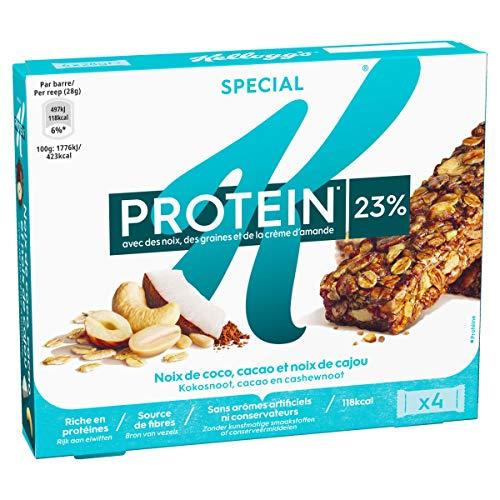 Barres céréales Special K Protein Kellogg's Coco Cacao Cajou - 4x28g