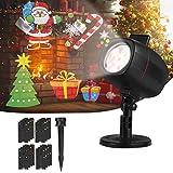 OUSFOT Proiettore Luci Natale, IP65 Proiettore Natale...
