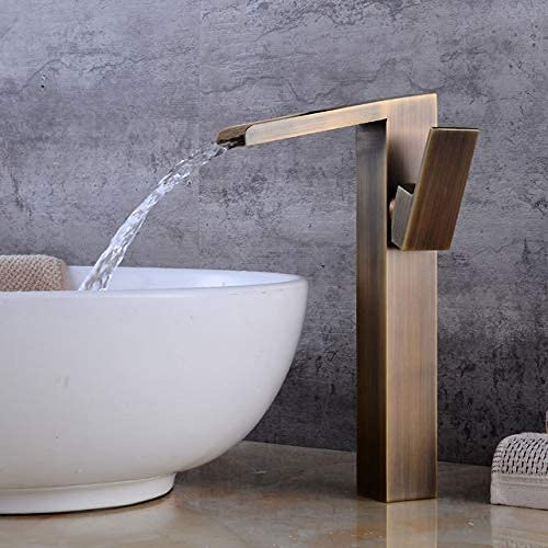 LBMTFFFFFF Waterfall Faucet Basin Large discharge sale Brass Brushed Oil Black Special price